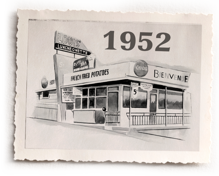 louis luncheonette en 1952