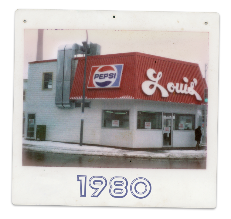 Louis luncheonette en 1980