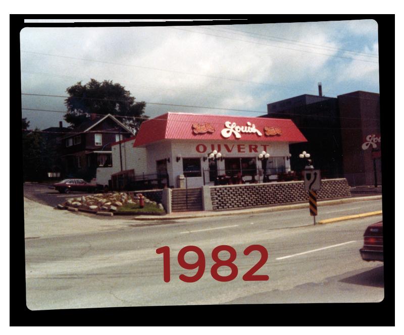 Louis luncheonette en 1982