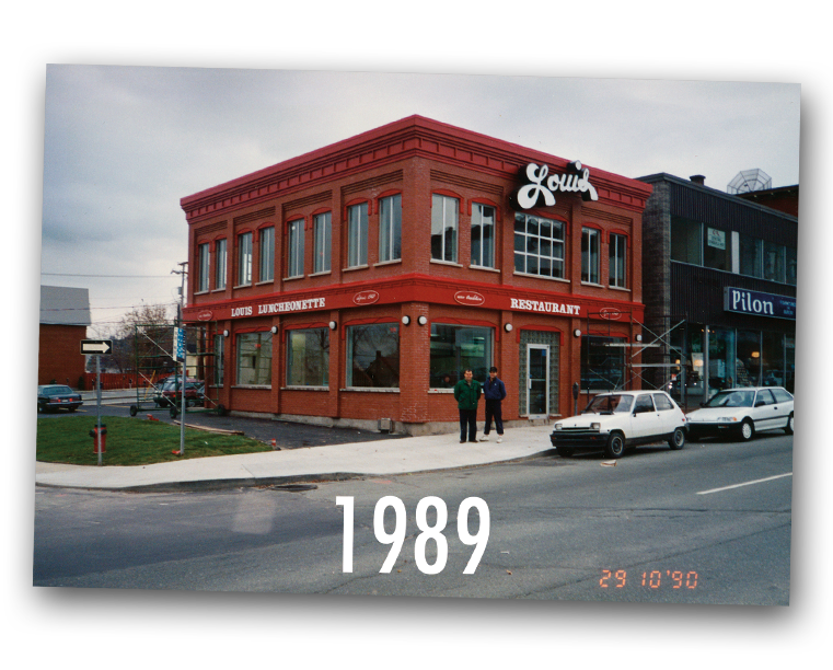 Louis Luncheonette en 1989